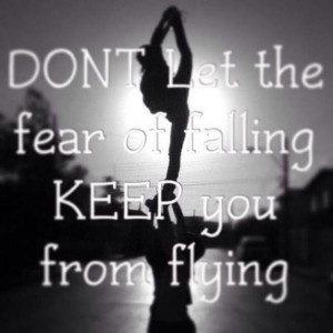 Cheerleading quotes, inspiring, motivational, sayings, fear