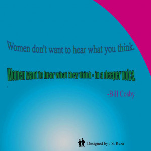 Labels: bill cosby • quotes • voice • women