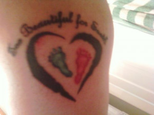 got this is memory of my 2 angels, the words say