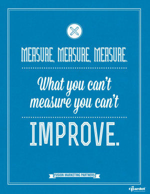What you can't measure, you can't improve.
