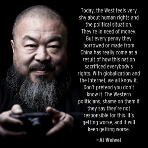 Dear Ai Weiwei: Yes, we know it. But your mission is no longer ours ...