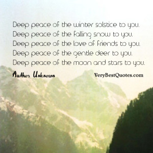 Winter Quotes, inspirational peace quotes