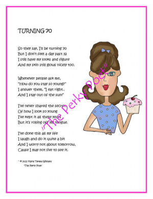 special selection 70th birthday poems, ideal for a card or 70th ...