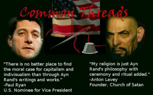 Actually the Church of Satan doesn't worship the Devil, but the point ...