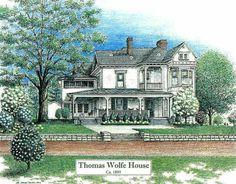 Thomas Wolfe Look Homeward Angel   Thomas Wolfe House, Asheville NC ...