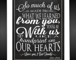... Farewell Graduation Moving Friend Gift Wall Art Teacher Appreciation