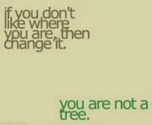 Change you're not a tree.