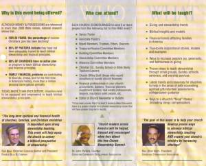of a Christian Stewardship Association 10-city national stewardship ...