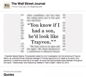 The Wall Street Journal's Quote BoardThe paper is playing on ...