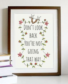A4 quote artwork print: