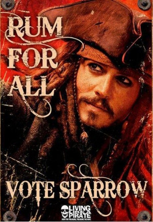 Captain Jack Sparrow Funny Quotes | Captain Jack as the president ...