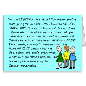 Hilarious Group Co-Worker Leaving Card