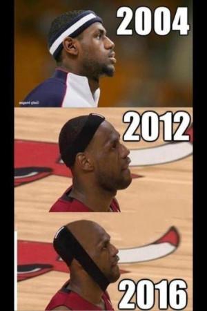 Lebron Hairline Meme and Miami Heat Joke Receding Hairline