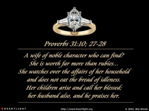 Woman of Noble Character (Part I)