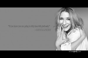 Cate Blanchett quote on acting Wallpaper