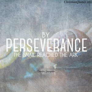 Charles Spurgeon Quote Perseverance
