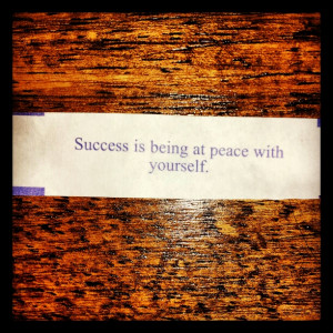 success is being at peace with yourself