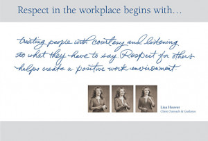 CalSTRS - Respect in the workplace begins with...