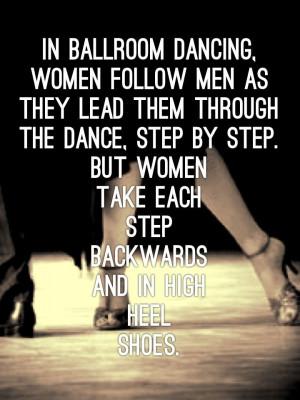 Ballroom Dancing, Women Follow Men As They Lead Them Through The Dance ...