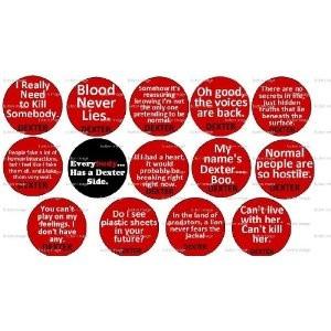 Set of 14 DEXTER MORGAN Quote Pinback Button 1.25