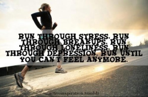 Running is the best therapy