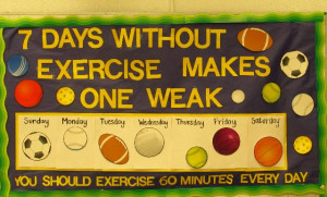 Physical Education Bulletin Board