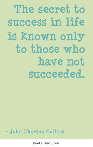 John Churton Collins Success Quote Poster Prints