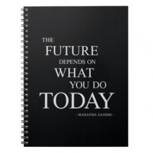 The Future Inspirational Motivational Quote Spiral Note Books