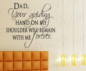 Dad Father Family Love Decorative Wall Decal Quote