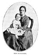 Blatchley holding one of Hudson Taylor's children