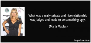 What was a really private and nice relationship was judged and made to ...