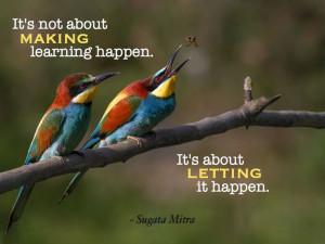 ... It's about letting it happen.