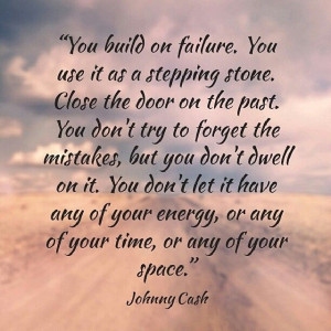 door on the past...Don't forget mistakes but don't dwell... Don't let ...