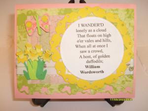 daffodil poem william wordsworth daffodil cards butterfly birthday ...