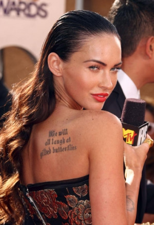 Megan Fox says if Angelina Jolie can have tattoos and a career, so can ...