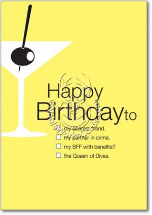 Drinking Partner Queen Of Divas Hilarious Picture Birthday Card ...