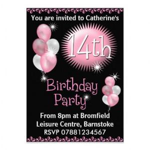 14th Birthday Party Invitation from Zazzle.com
