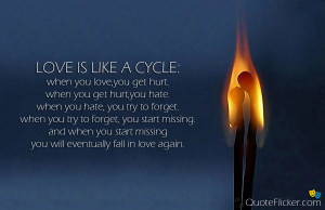 Try Again Quotes Love Love is like a cycle.