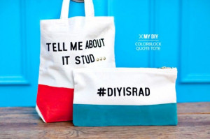 DIY colorblock quote tote & clutch (any DIY project that references ...