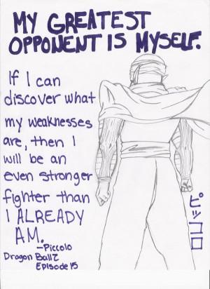 Dragon Ball Quotes-Piccolo by Allviran