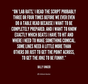 lab rats quotes source http quotes lifehack org quote billy unger on ...