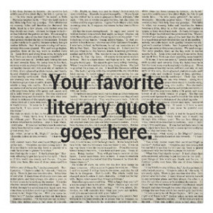 Personalized Quote, literary Poster, custom