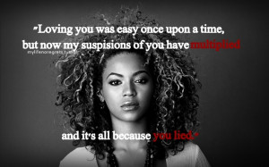 Beyonce - Resentment...I won't front and act like I wasn't screaming ...