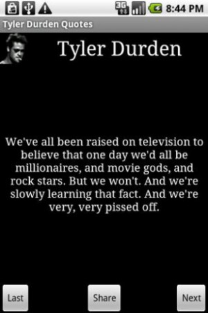 View bigger - Tyler Durden Quotes for Android screenshot