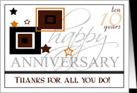 Happy 10th Anniversary- Employee- 10 years card - Product #731507