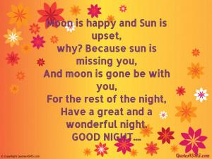 Moon is happy and Sun is upset...