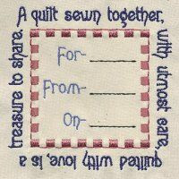 Baby Quilt Label Sayings