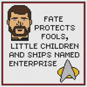 Star TrekThe Next Generation Riker quote counted by CapesAndCrafts, £ ...