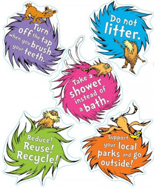Teachers: Win This Free The Lorax Guide to Green Recycling Bulletin ...