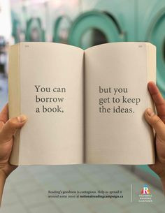 The great thing about a library book... More